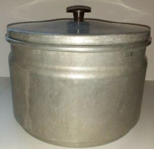 Vintage-Mirro-HI-SPEED-THRIFT-COOKER-Aluminum-6-Quart-Deep-Well-Cooker-5-pc