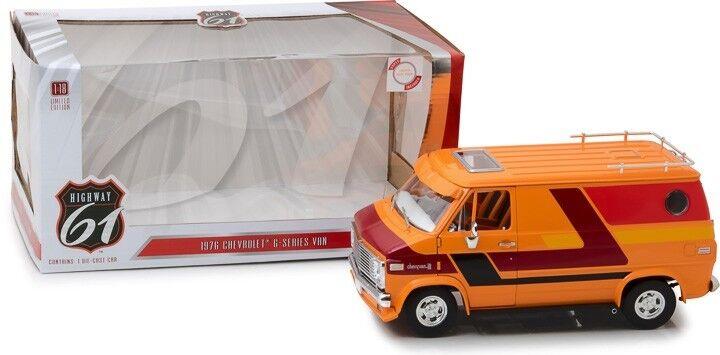 online al mejor precio Highway 61 61 61 18012 1 18 1976 Chevrolet Van personalizada Serie G NARANJA  entrega gratis