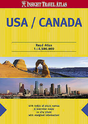 (Good)-USA and Canada Insight Travel Atlas (Insight Travel Atlases) (Paperback)-