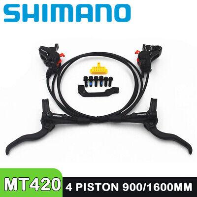 SHIMANO MT420 4 piston Brake Mountain Bike Hidraulic Disc Brake SET 900-1600mm