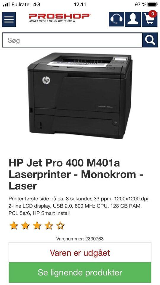Laserprinter, Hp laserjet pro 400, God