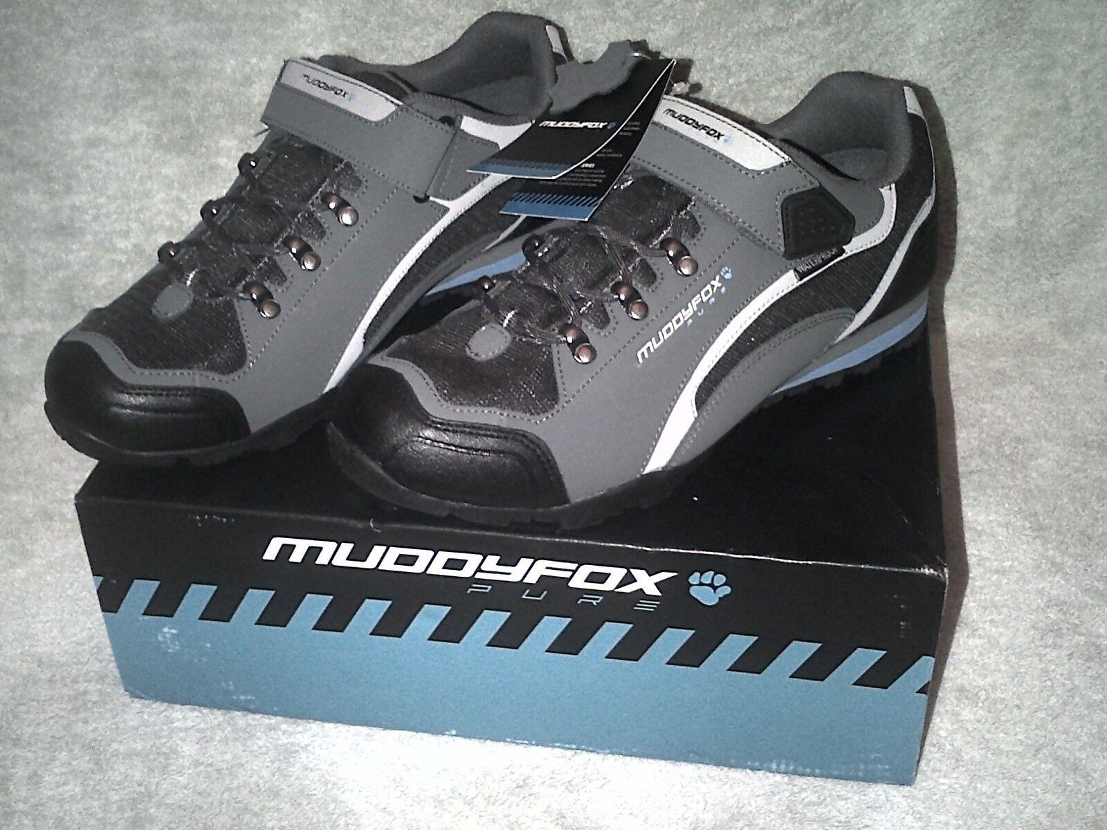 MUDDYFOX TOUR 200 LOW CYCLING Schuhe AND SIZE 10 CHARCOAL GREY AND Schuhe Blau d34a6a