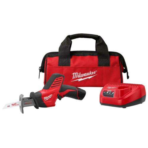 Milwaukee M12 Cordless Reciprocating Saw Kit 12 Volt Lithium Ion HACKZALL w//