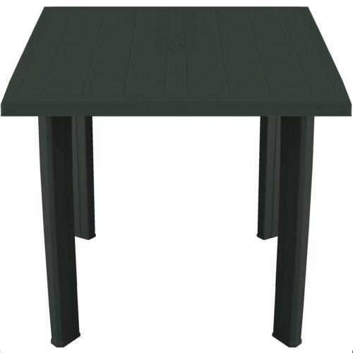 Gartentisch 80x75cm Campingtisch Balkontisch Beistelltisch Vollkunststoff Grün