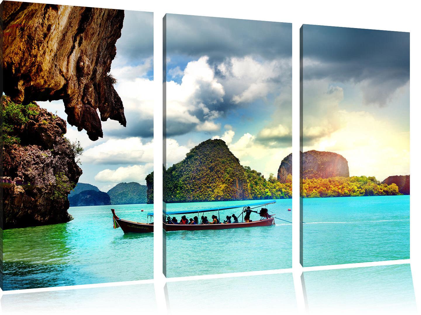 Tailandia de Phuket Playa Paradisiaca 3-Teiler Foto en Lienzo Decoración de Tailandia Pared a0488c