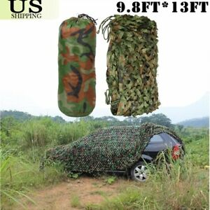 Woodland Camouflage Netting Military Camo Hunting Cover Net Backing 13' x 9.8'