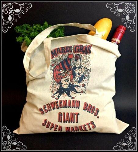 New Or Retro NOLA Canvas Shopping bag with Vintage Schwegmann Mardi Gras Logo