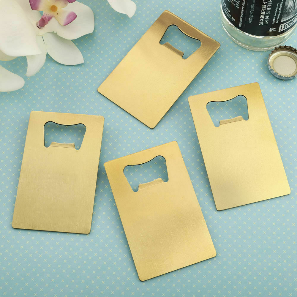 40-200 Gold Steel Crotit Card Bottle Opener - DIY DIY DIY Wedding Party Favor c3232f