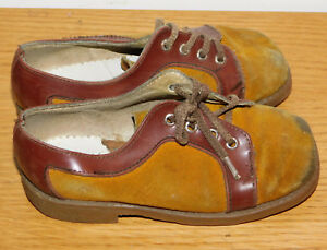 f41a202172432 vintage MADE in FRANCE ancien CHAUSSURES taille 25 ENFANT cuir KID ...