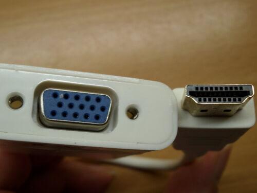 Da HDMI a VGA /& Audio Convertitore Adattatore Video Cavo Raspberry Pi 2 Nero