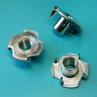 Ausdauernd 20 Stück Einschlagmuttern M8 Stahl Mit 4 Spitzen Klettergriffe Kletterwände Nägel, Schrauben & Befestigung