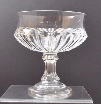 """Vintage Clear Glass Pedestal Compote Crown Shape Serve Bowl 7 3/4"""" Decorative Collectibles"""
