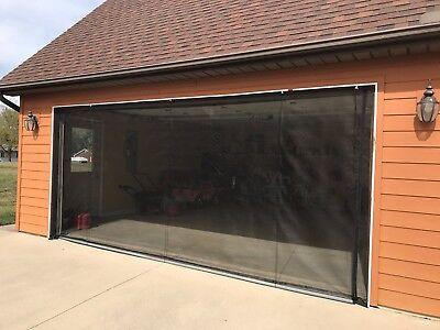Zip Roll Brand Roll Up Garage Door Screen 9 X 7 90 Degree Corners Ebay