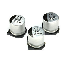 25pcs 470uf 25v Sanyo Cv Ax Radial Electrolytic Capacitor Smd Low Impedance