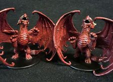 Dungeons & Dragons Miniatures -  Young Red Dragon Pair !!  s67