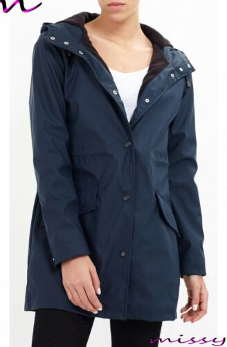 Rain Størrelser 16 Parka Mac Rubberized 8 Hooded Coat Fleece New Women Ladies Lined Twgqtt