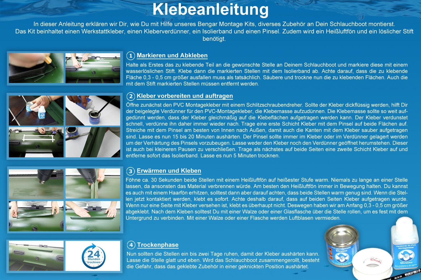 Set  Railblaza Cleatport Cleatport Cleatport Ribmount Halterung und Kleber-Kit (grau) 03-0015-51 540172