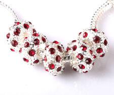 Fashion 5pcs Silver CZ nest big hole Beads Fit European Charm Bracelet DIY B#225