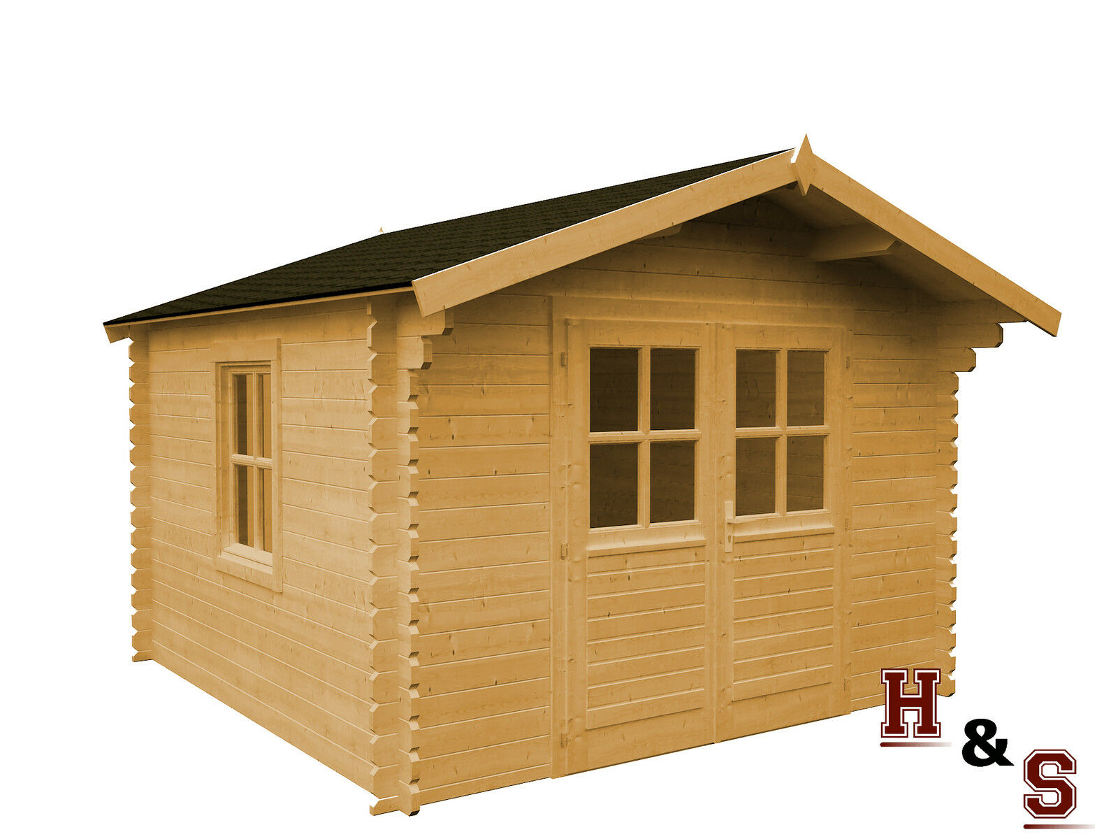 gartenhaus schleppdach 320x320 cm holz schuppen. Black Bedroom Furniture Sets. Home Design Ideas