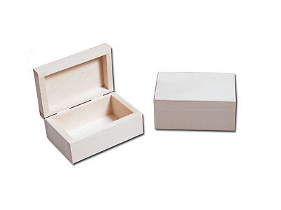 Unpainted Unfinished Wooden Box/ Trinket Box/ Small wooden box to decorate