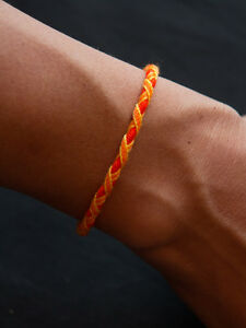 bonne vente style populaire grosses soldes Details about Bracelet Brésilien - ORANGE : JAUNE /16cm / Unitaire /  FRIENDSHIP BRACELET / NEW