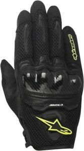 Alpinestars-SMX-1-Air-Short-Mens-Mesh-Motorcycle-Gloves-Black-Yellow-Fluo