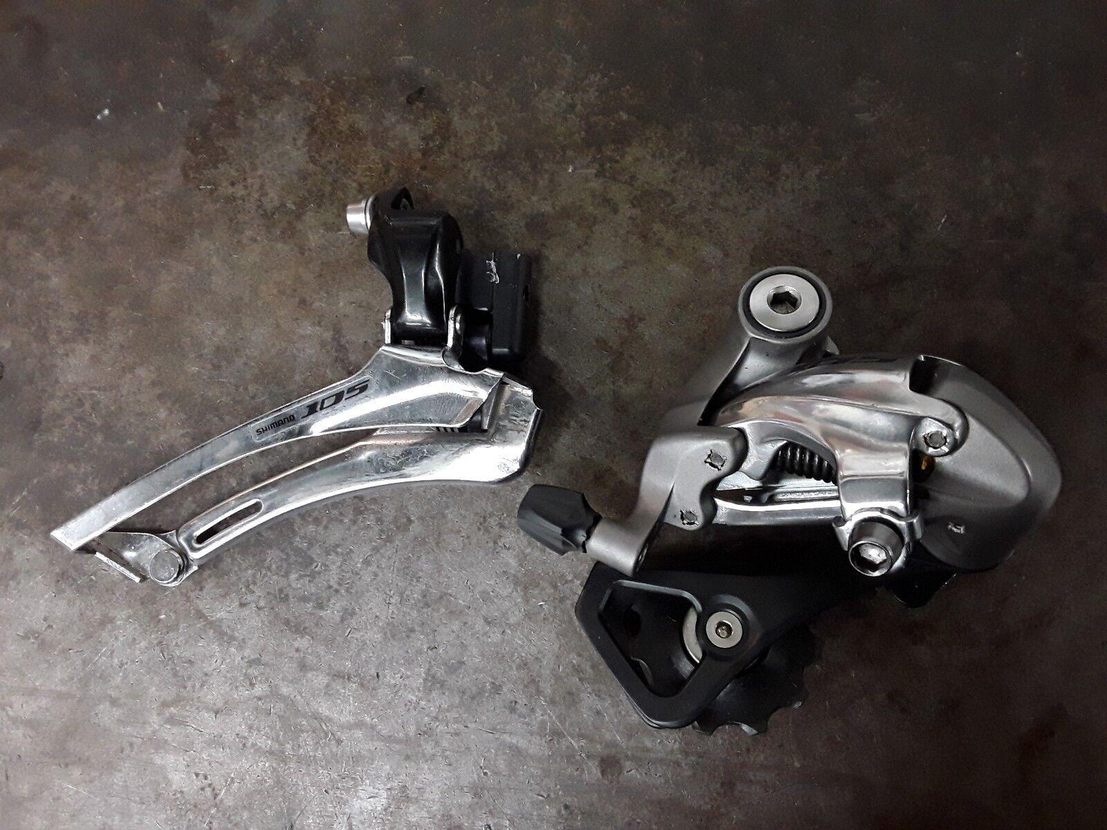 Utiliza Shimano 105 2x10 conjunto de desviador delantero y trasero