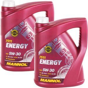 5W-30 MANNOL Energy 10 Liter Motoröl 5W30 API SL CF VW 502.00 505.00 ACEA A3 B