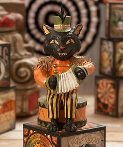 Bethany-Lowe-Halloween-Black-Cat-Playing-The-Accordian-TD7622