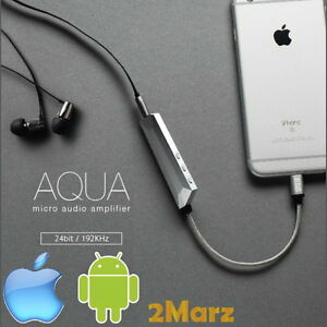 nexum aqua earphone amplifier dac apple iphone lightning ios android