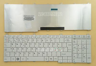 OEM NEW for Toshiba Satellite L755-S5216 L775D-S7206 Keyboard US white
