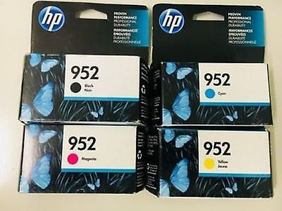 4pk Set HP 952 Ink Cartridges NEW GENUINE Officejet 8710 8210 8720 ...