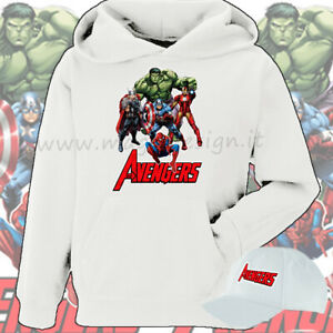 FELPA-AVENGERS-CARTOON-SUPER-EROI-Thor-Capitan-America-Hulk-spiderman-Iron-man