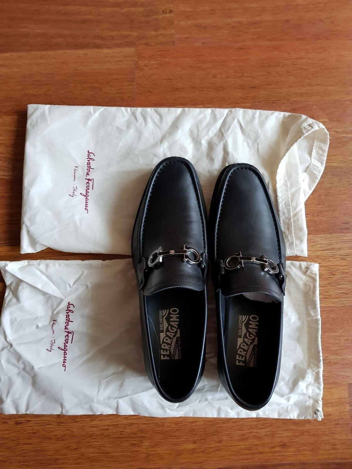Original salvatore salvatore salvatore ferragamo Men zapatos 42 tamaño Color negro  estilo clásico