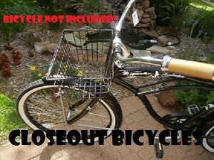 Front-Bicycle-Basket-Lift-Off-Type-Carrier-Black-Cruiser-Commuter-Bike