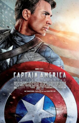 """T1 11/"""" x 17/"""" Captain America First Avenger - B2G1F Collector/'s Poster Print -"""