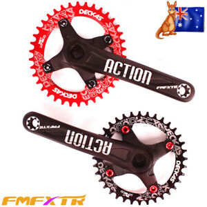 104-64BCD-170mm-Crankset-MTB-Bike-Narrow-Wide-32-38T-Single-Chainring-Round-Oval