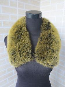 Genuine fox fur collar / wrap / fur scarf black with ye