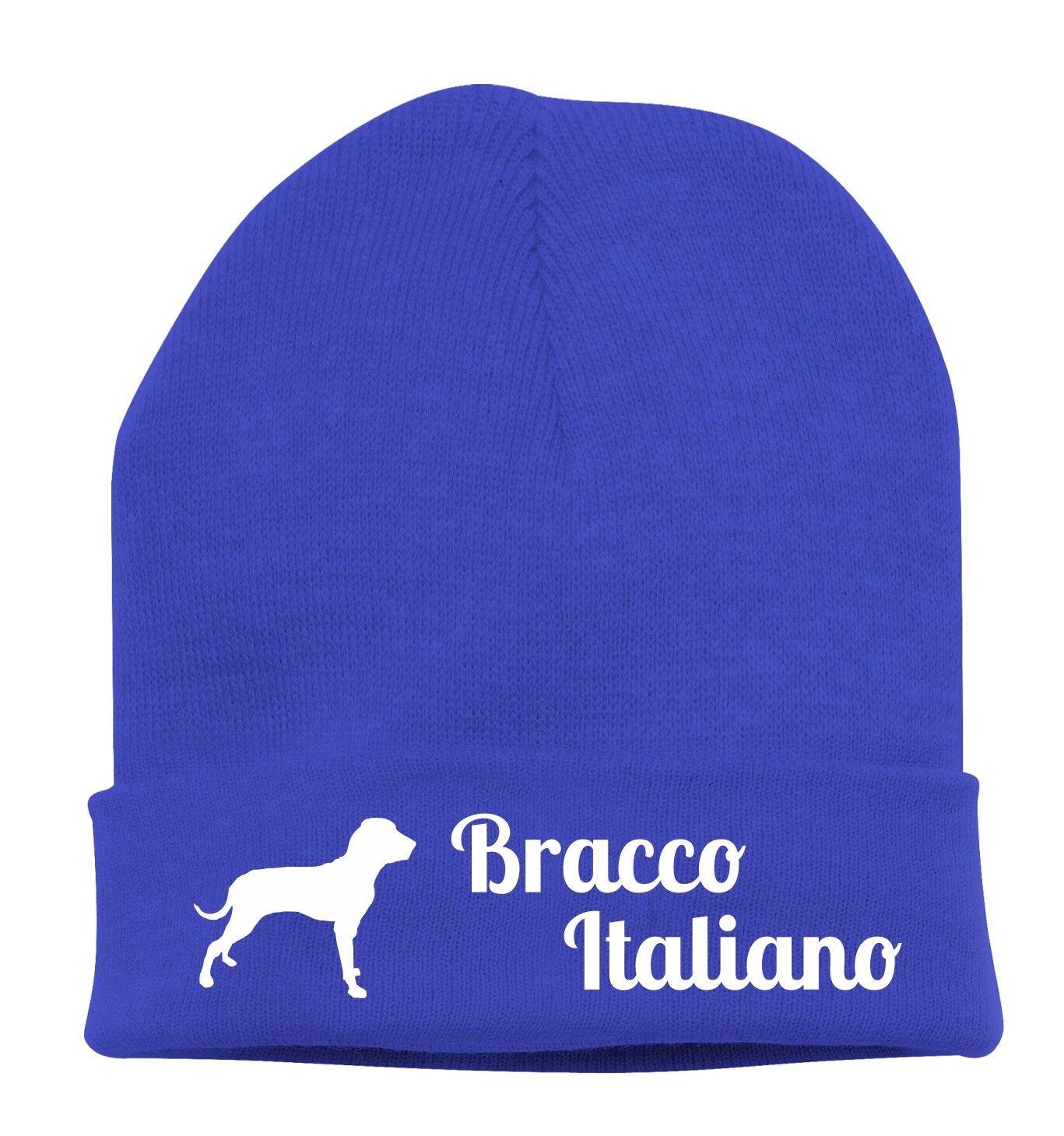 Beanie Strickmütze Mütze Stickmotiv BRACCO ITALIANO Hunde Siviwonder