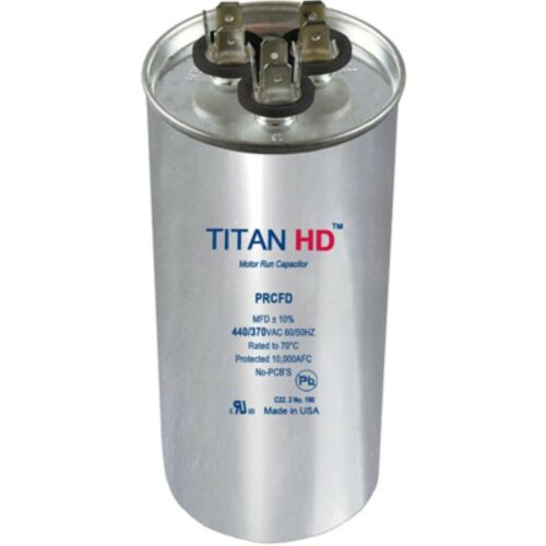 Mars Replacement Titan Hd Run Capacitor 30+5 Mfd 440//370V Round 12781 By Titan