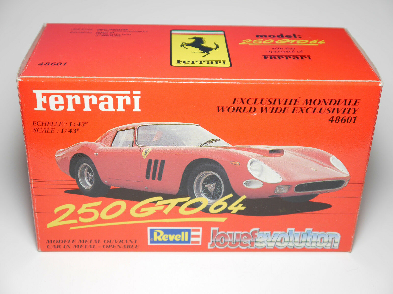 Ferrari 250 GTO 64 Red red red Red, Revell Jouef Evolution 1 43 Boxed