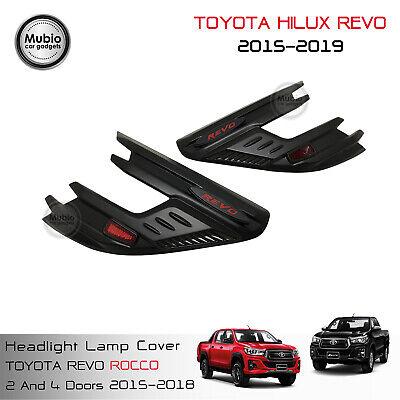Genuine Rear Lamp Light Cover Matte Black For Toyota Hilux Revo Rocco 2015 2019