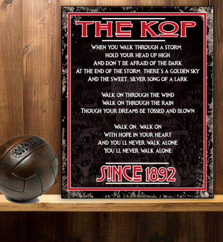 LIVERPOOL THE KOP SONG ANTHEM FANS Retro Vintage  Metal Wall Sign RS448