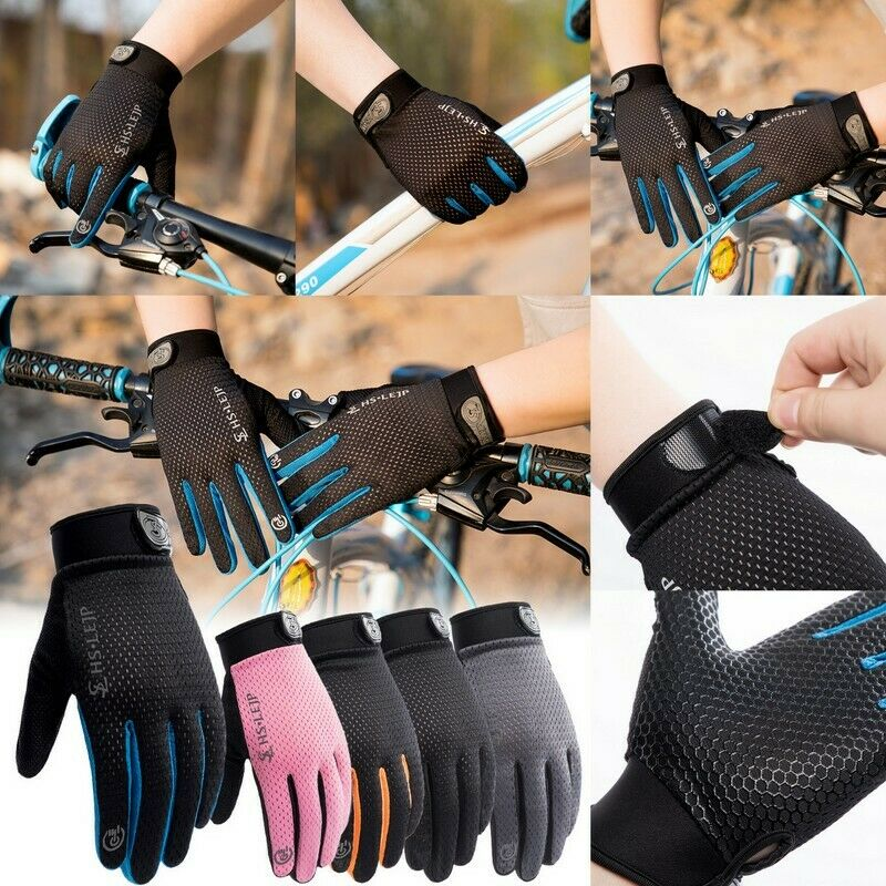Unisex Full Finger Touch Screen Cycling Gloves Bike MTB Motorcycle Padded Gloves