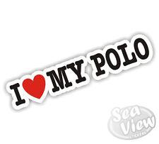 I Heart Love My Polo VW Volkswagen Dub Car Van Sticker Decal