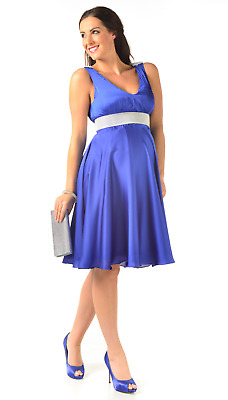 8 and 10 Freya Royal Blue Maternity Evening Dress with sequin band Sizes 6