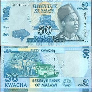 Malawi 50 Kwacha. UNZ 01.01.2012 Banknote Kat# P.58a