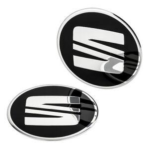4-SEAT-Nabendeckel-Felgen-Aufkleber-60-mm-Alufelgen-Emblem-Logo-Felgenaufkleber