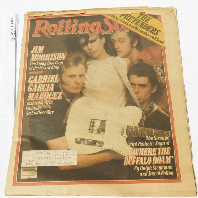 The Pretenders Jim Morrison Last Days ROLLING STONE MAGAZINE 318 may 29 1980