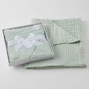 Jiggle & Giggle 100% Cotton Sage Double Muslin Baby Blanket